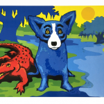 BlueDogs-and-Cajuns-on-the-River-Estate-Stamped-Silkscreen-lr
