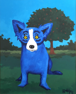 i-cannot-tell-a-lie-1996-30x24-acrylic-linen-rodrigue