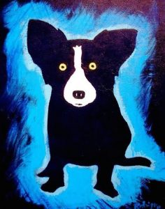 Black and Blues 2007 20x16 RODRIGUE